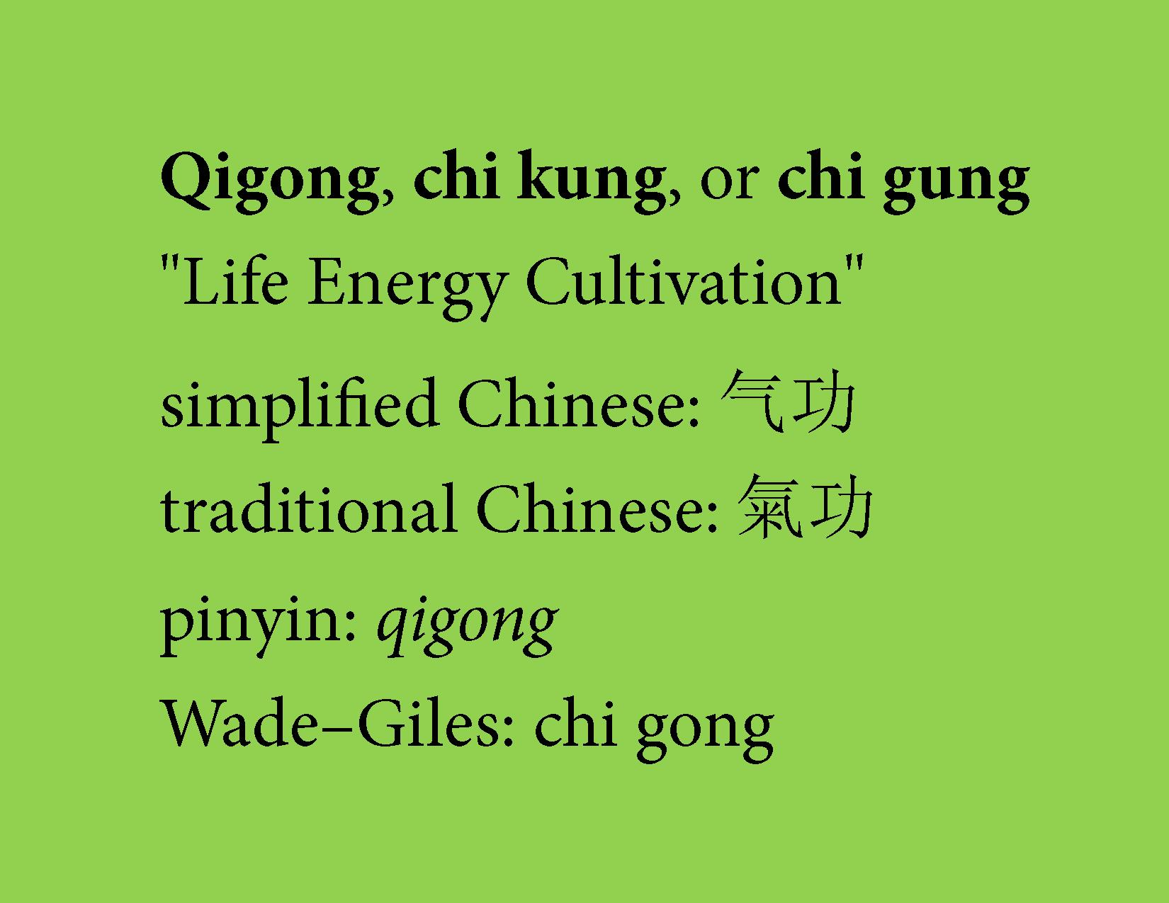 what is qigong